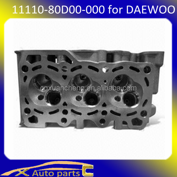 auto spare parts for chevrolet spark auto parts of chevrolet cylinder head Spark 0.8 Petrol L3 SOHC M96642708, 11110-80D00