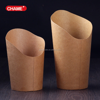 Professional paper for fish and chips disposable kraft paper chip cups with CE certificate