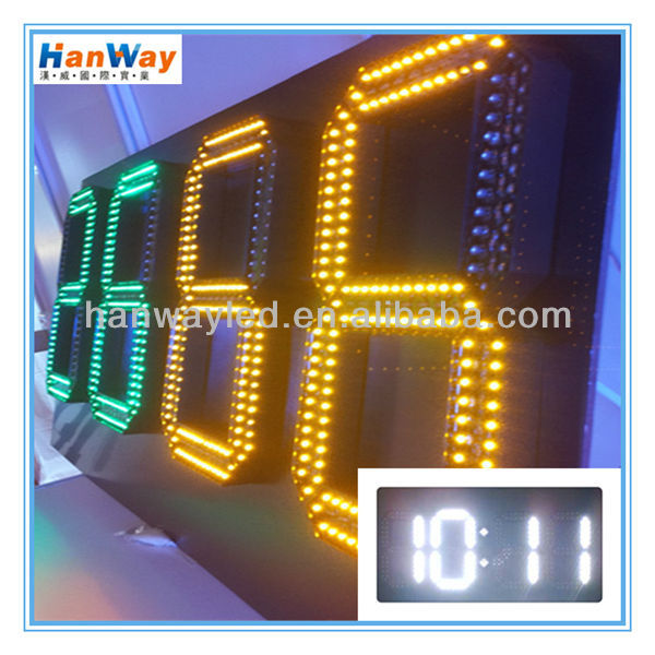 2015 new design LED digital wall clock with aluminum frame