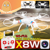 high quality rc quadcopter 4CH 6-axis airplane drone syma x8w