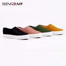 Wholesale Zipper Slip on canvas pictures of women flat shoes