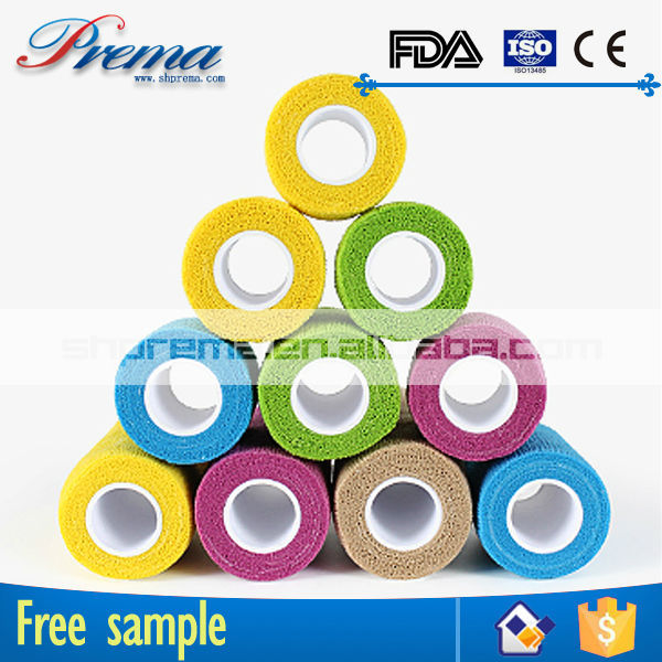 Own Factory Direct Supply Non-woven Elastic Cohesive Bandage paraffin gauze dressing