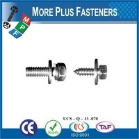 Taiwan M3 M12 M5-0.8 x 10mm DIN 965 Phillips Drive Flat Head Grade A2 Stainless Steel Machine Screw with Hex Double Lock Washer