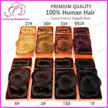 2015 Short Hair 8 different colors 100% Brazilian Human hair Weave 27 piece Bump Hair With Free Top Closure