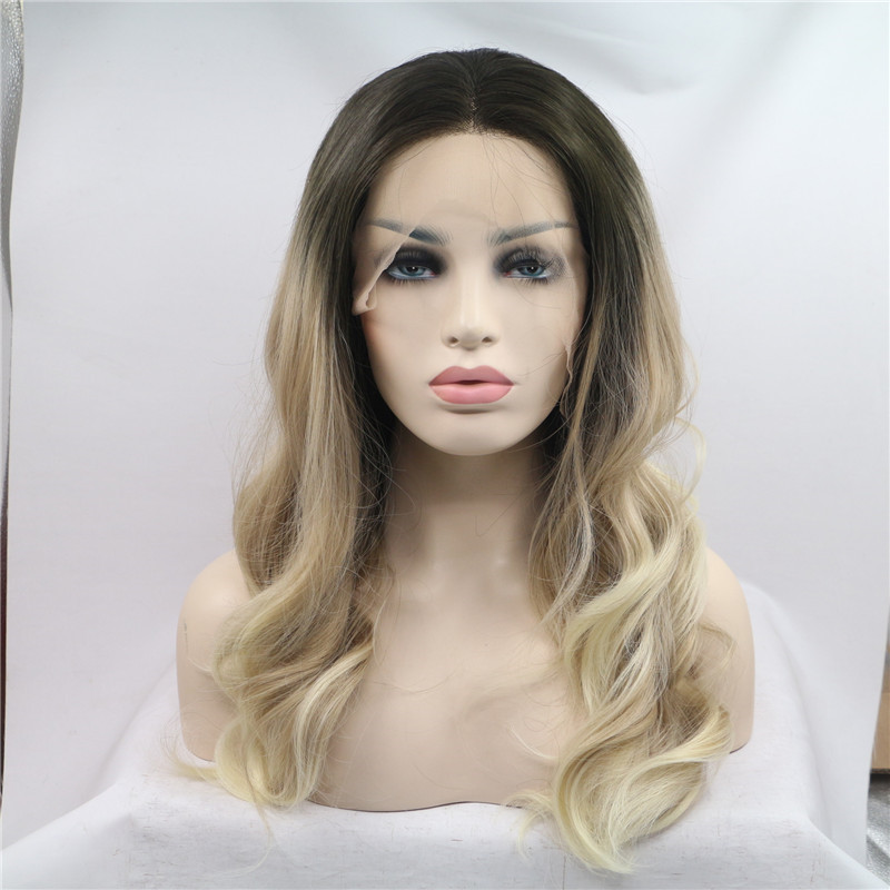 heat resistant synthetic lace front wig