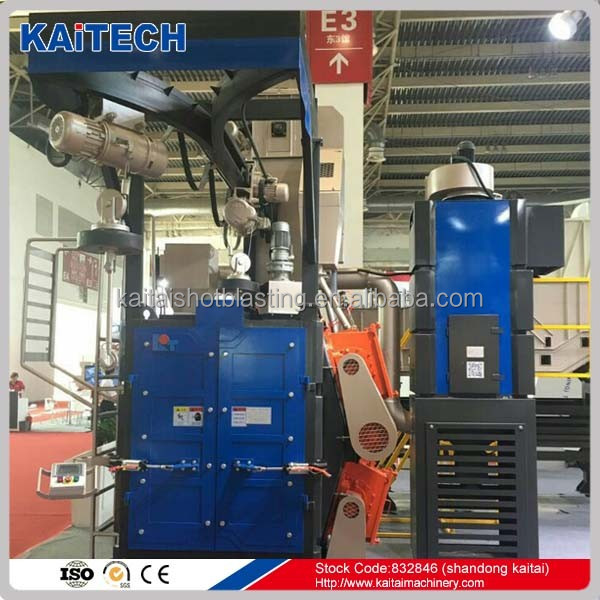 Q37 hanger type shot blasting machine with high cleaning quality and low consumption of steel shot