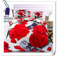 3D 100% polyester fabric printing home textile bedsheet fabric of china