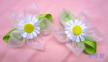 white five petal tulle sunflower corsage for clothing