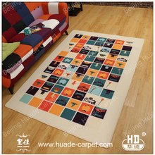 Durable Nylon Floor Rugs and Carpets Floral Printed Carpet