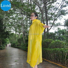 Sexy PVC Cheap and quality Rain Poncho or Raincoat for women