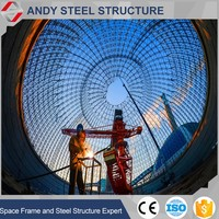 High Quality Prefab steel coal shed grid strucutre space frame ball