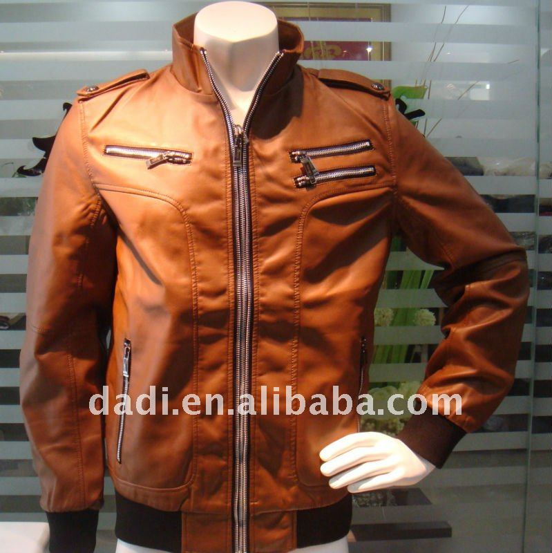 2017 latest mens leather jacket fashion garment