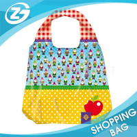 Folded Polyester Tote Bag for Supermarket Shopping
