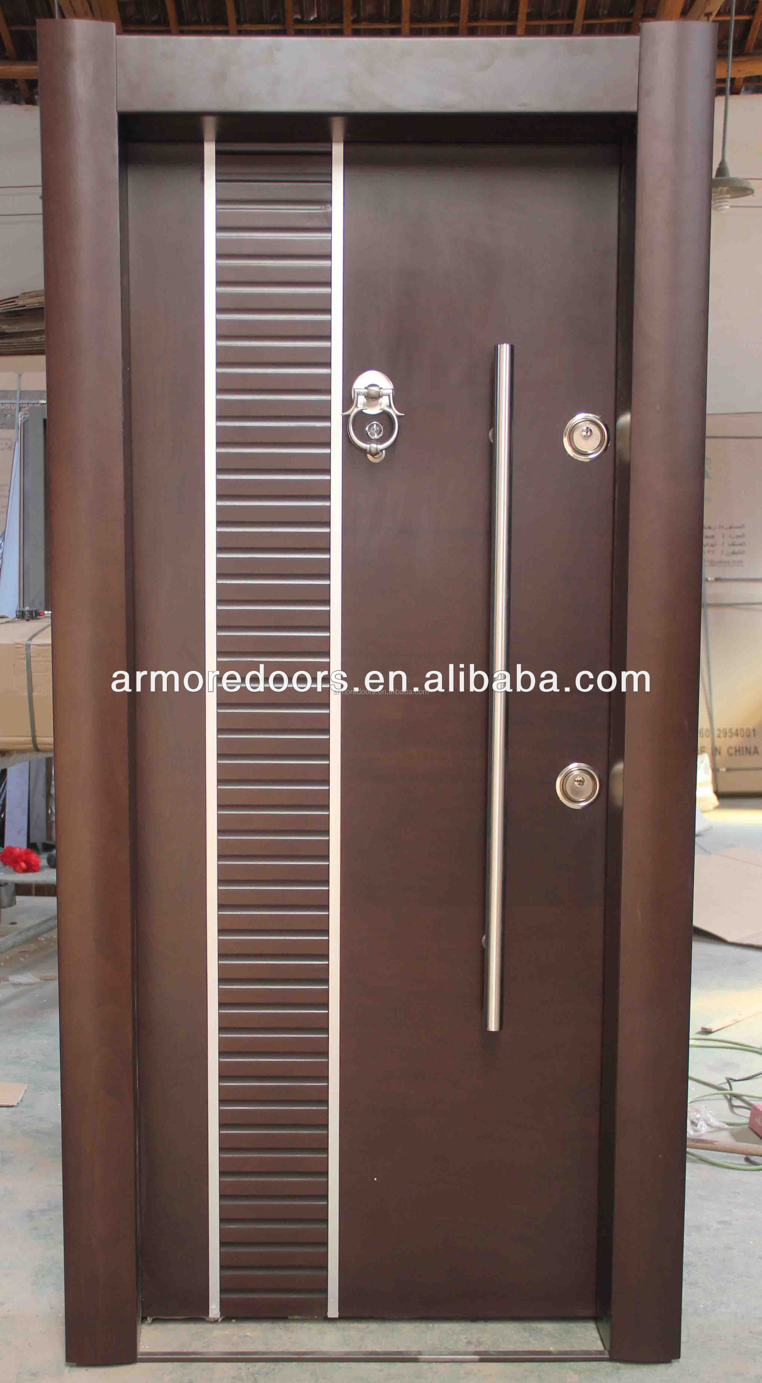 Armored door interior door swing metal armored for Door design video