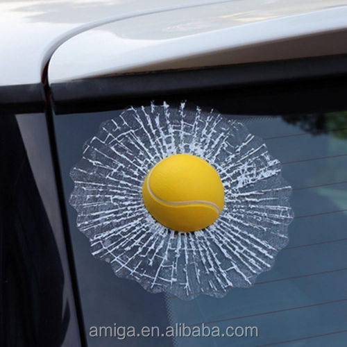 Christmas gift 3D soccer basketball tennis baseball glass car sticker 3D crazy car Window Decal