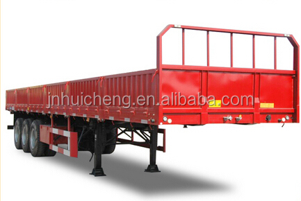 Tri-axle sidewall loading 45 tons 12 meter long truck semi-trailer