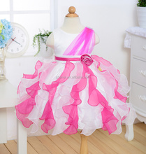 2016 latest fashion kids dress flower dress party frock for girls