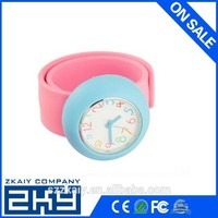 Promotion Custom Silicone Slap Wristband Watch For Kids