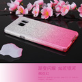 For samsung note 5 gradient glitter case, for note 7 slim tpu 3 in 1 cover