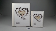 romantic acrylic wedding photo album cover