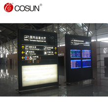 Cosun IP67 Waterproof Stainless Steel Standing Building Signage Design