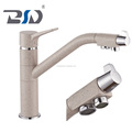 Single Handle Divertor Control Brass Sand Surface Dual Flow Copper Spout Drinking Water 3 Way Kitchen Faucet