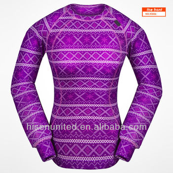 New Design Women's Allover Printing Base Layer