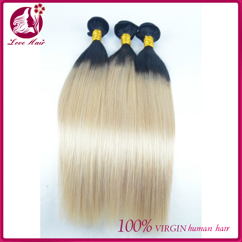 Top quality and excellent service with best price virgin brazilian wholesale 100% human two tone ombre hair braiding hair weft