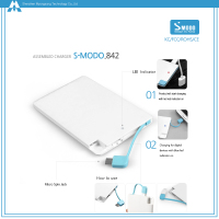 Smodo phone accessory portable power 2500mAh with ROHS/FCC/CE/KC certificates