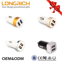 wholesale promotional high quality 5v 1a double usb car charger