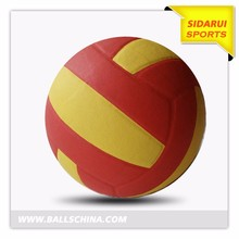 Super Fibre 18 panels Volleyball size 5,super PU glue laminated soft touch volleyball