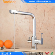 Beelee BL3318 Three 3 Way Kitchen Purifier Faucets with Pure Water Flow Filter Tap