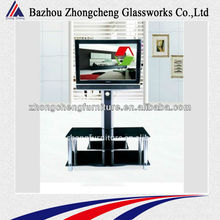 2012 modern home furniture high end glass LCD tv stand
