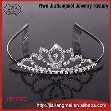 shining crystal flower silver tiara women Wholesale