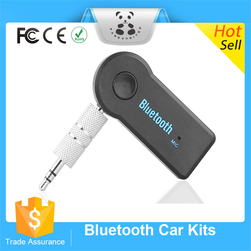 2016 Hot 3.5mm Aux usb handfree bluetooth stereo audio bluetooth car kit