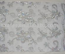 mesh spangle embroidery fabric