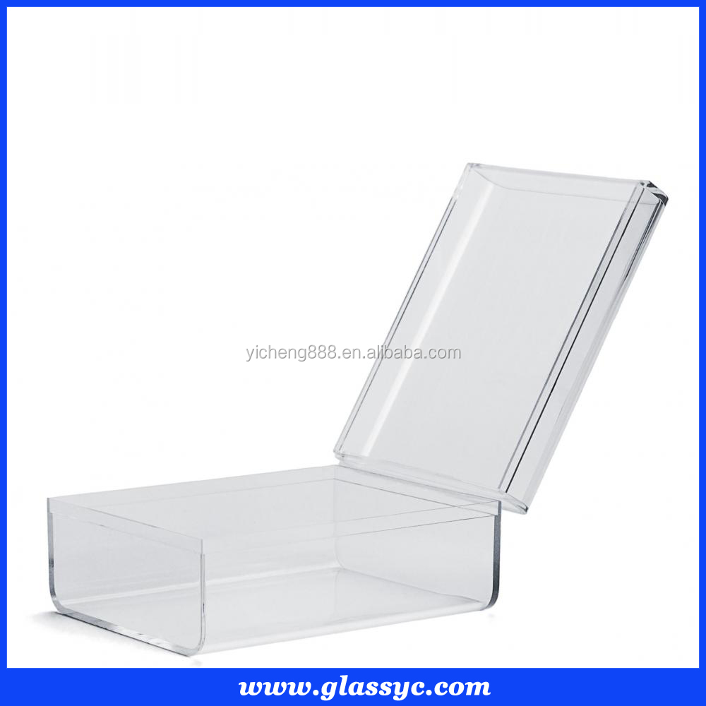 Wholesale custom elegant box with lid small acrylic gift box jewelry box