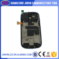 Replacement black and white lcd touch screen digitizer assembly for s3 mini i8190