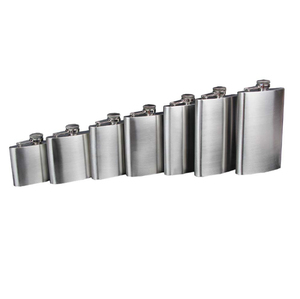 100% 304 stainless steel hip flask light weight stainless steel flask for storing whisky liquor