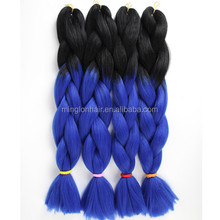 synthetic jumbo braiding hair extension two tone ombre color cheap jumbo ombre extensions