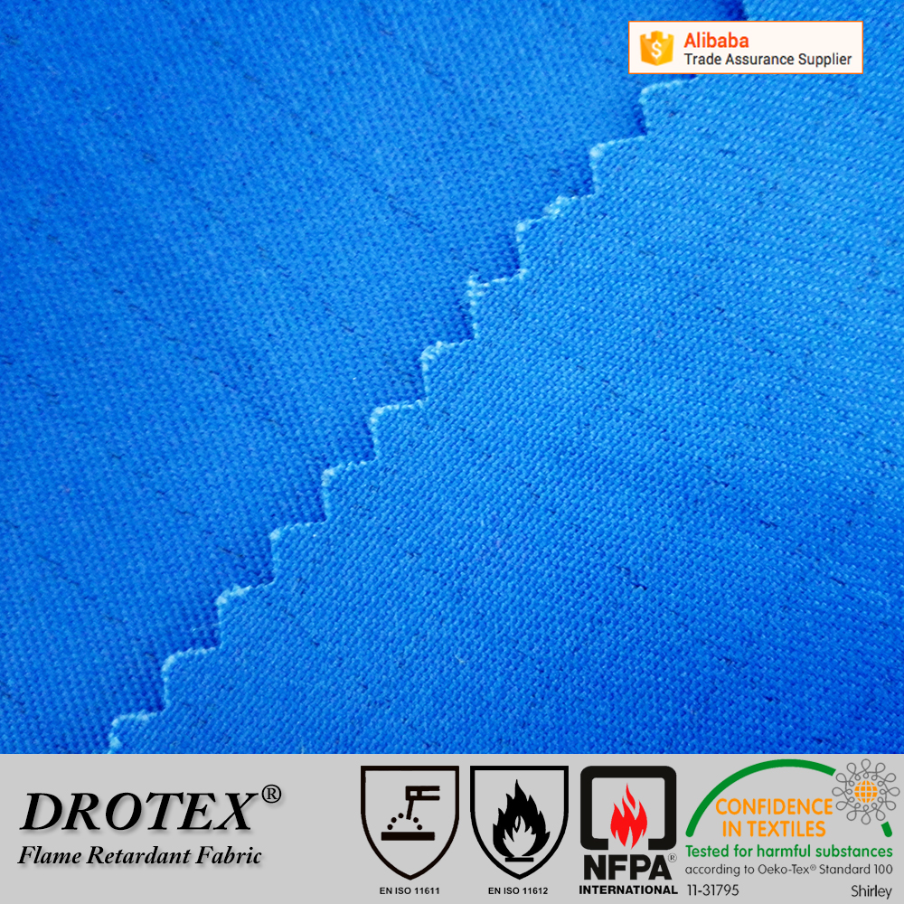 Plain style 150gsm non flammable anti fire aramid fabric for workwear