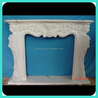 Indoor Decorative White Stone Fireplace Stove