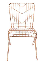 Copper Metal Wire Mesh High Back Outdoor Chair