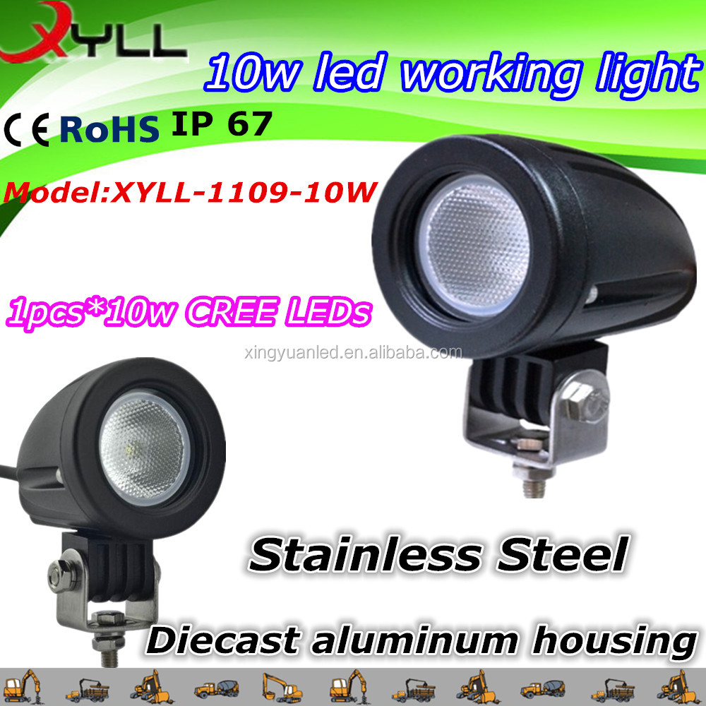 10w Auto led work light ,car headlighting , for car/motorcycles/jeep auto led work light