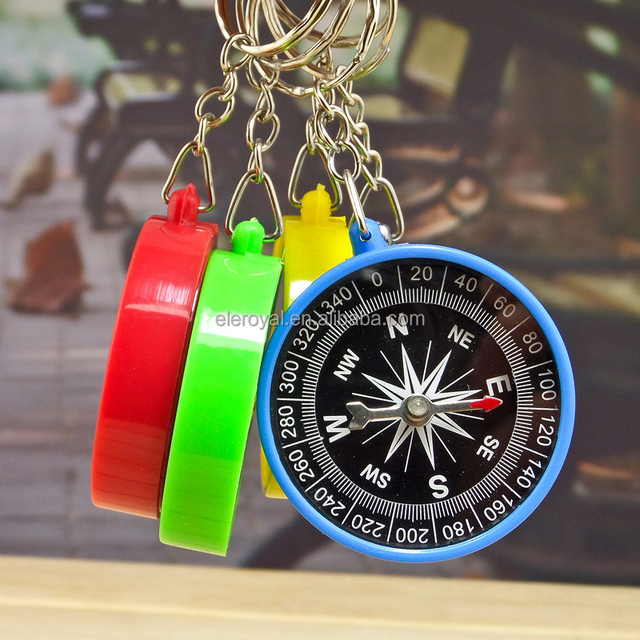 Factory Wholesale Promotional Small Mini Kids Compass with Keychain
