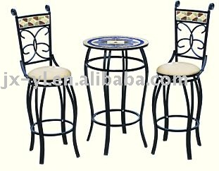 iron garden outdoor mosaic bistro furniture table and chairs ]