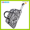 BSCI audit new design zebra-stripe print newest popular trolley travel bag made in China