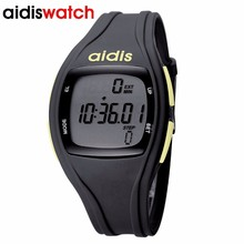 Unisex Sport Pedometer Wristwatches Digital Water Resistant Step Watches LED clock Stock Running Watch