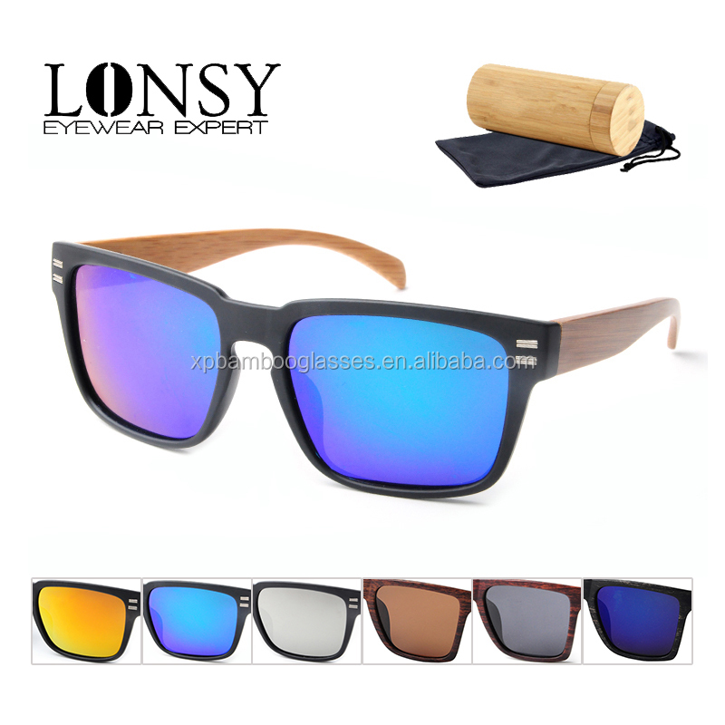 Lonsy Aviator UV400 Protect Polarized Sunglasses with Mirror Blue lens LS5010-C4