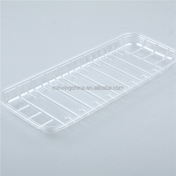 Plastic food blister packaging plastic tray liner extra large plastic tray made in China